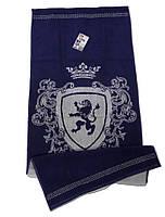 Полотенце махровое Cool, 50х90 см, дизайн Bravery синий