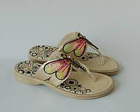 Детские летние шлепанцы для девочки, Blooms золотая стрекоза, 31-36
