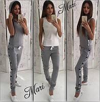 Костюм женский Moschino тройка: брюки, майка, жилет в разных цветах MIL78