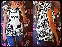Женская модная летняя футболка с пандой