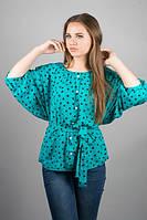 Женская стильная блуза больших размеров с сердечками