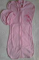Европеленка или пеленка-кокон на молнии розовый
