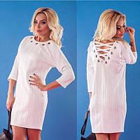 Женское стильное платье с завязками на спине