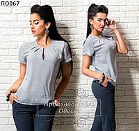 Женская блуза летняя с принтом 42-50