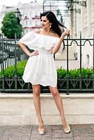Белое летнее платье Прошва НВ 331-n