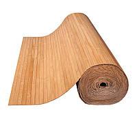 Бамбуковые обои темные 12 мм, ширина 250см.