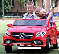 Электромобиль детский Mercedes-AMG джип с пультом управления двухместный JJ 609EBR-3 красный