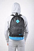Городской рюкзак Nike черный с синим