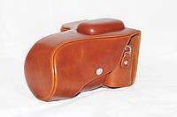 Защитный футляр - чехол для фотоаппаратов NIKON D3100, D3200, D3300 - коричневый