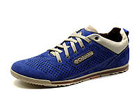 Туфли мужские Columbia, спортивные, синие, кожа, фото 1