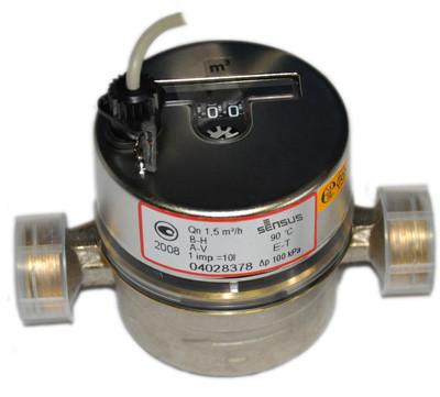 Квартирный  счетчик воды ResidiaJet E-T Qn1.5/30 (90) c импульсным выходом