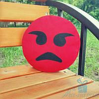 Декоративная подушка смайлик Emoji Злой