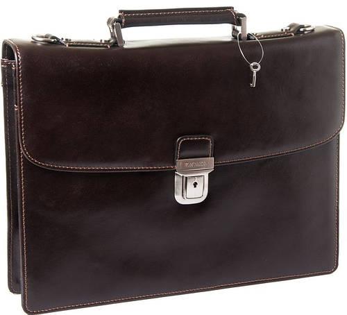 Мужской удобный кожаный портфель KATANA k63039-2, темно-коричневый