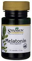 Мелатонин от бессонницы для улучшения сна, Melatonin, Swanson Premium, 3 мг, 120 капсул