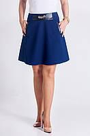 Молодёжная юбка синего цвета