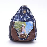 Рюкзак для повседневного использования. Рюкзак из джинсовой ткани. Отличное качество. Код: КДН290