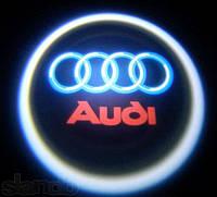 Диодная подсветка дверей с логотипом авто Audi