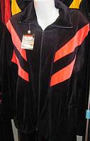 Женский спортивный костюм большого размера с цветными вставками