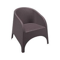 Пластиковое кресло ARUBA 804 коричневое,белое и 2240 серое