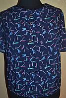 """Женская блузка """"Воротник с стрекозой"""" больших размеров"""