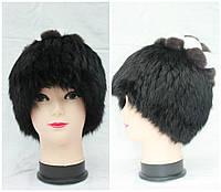 Женская меховая шапка из кролика+мех чернобурки на трикотажной основе, от производителя, кубанка