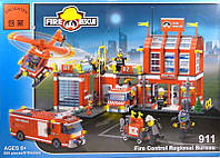 """Конструктор Brick 911 """"Пожарная станция"""", 980 деталей"""