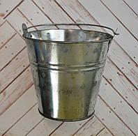 Ведро жестяное декоративное, высота 11 см, диаметр 8/12 см