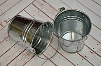 Ведро жестяное декоративное, высота 7 см, диаметр 5/7 см