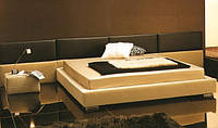 Двуспальная кровать с мягкими стеновыми панелями на заказ купить в Украине