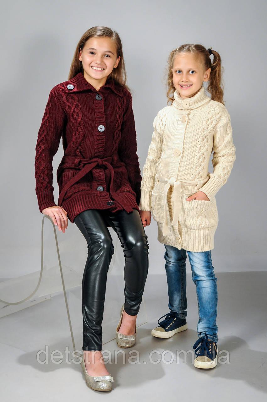 Детские вязанные кофты для девочек доставка
