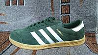 Мужские и подростковые кроссовки городские Adidas Hamburg зеленые