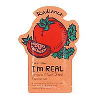 """Tony Moly Тканевая маска с экстрактом томата """"I'M REAL MASK TOMATO SHEET"""", 21 мл 8806358581848"""