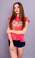 Кьяра. Молодежная женская футболка. Коралл.(Р)., фото 1