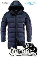 Зимняя длинная куртка мужская Braggart 2762 т. синий