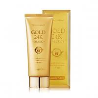 """Tony Moly Маска для лица  с коллоидным золотом и экстрактом улиточной слизи """"Luxury Gem Gold 24 Mask"""", 100 мл"""