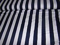 Трикотажная ткань( белый в синюю полоску)