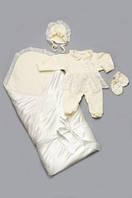 Комплект на выписку для новорожденных молочный (для девочки) Модный Карапуз