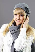 Очаровательный комплект из шапочки и шарфа