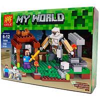"Конструктор для мальчиков  LELE 79258  ""My World"" - аналог ""Minecraft"" Майнкрафт, деталей 159 YNA / 0-5"