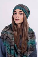 Вязаный комплект (шапка и шарф) , фото 1