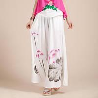 Женские свободные брюки с рисунком