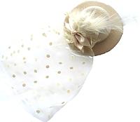 Заколка для волос Шляпка с вуалью (зажим)