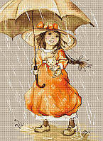"""Набор для вышивания крестиком (дети) """"Зонтик"""". Художник Екатерина Бабок"""