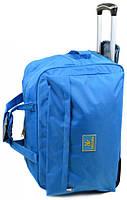 Сумка текстильная на 2-х колесах дорожная 45 л Big 303-2 blue голубой