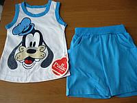 Детский летний костюм футболка и шорты для мальчика Гуффи  68-86 см Турция