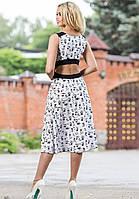 Легкое Модное Платье Белое с Открытой Спиной S-XL