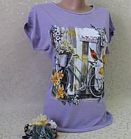 Футболка женская. 40-48 р-р.Турция. Женские футболки, туники, блузки из трикотажа. , фото 1