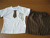 Детский  летний костюм футболка и шорты для мальчика 1-3 года Турция