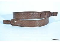 Ремень для ружья прямой тисненый прямоугольник кожаный коричневый