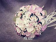 Букет-дублер  ручной работы в розовом цвете